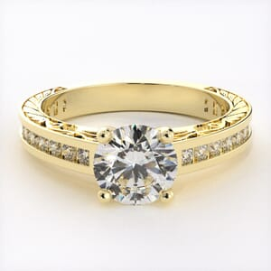 3203 - Bling And Patterned Engagement Ring