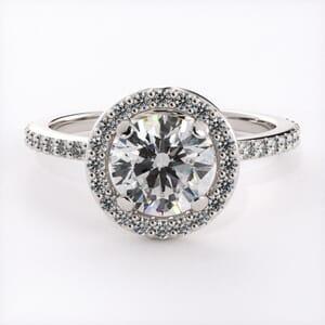 3207 - Bling Halo Engagement Ring