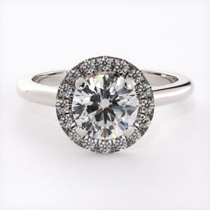3212 - Round Halo Heaven Engagement Ring