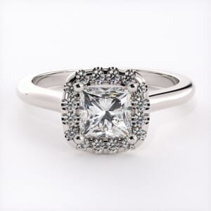 3217 - Square Halo Heaven Engagement Ring