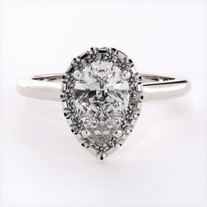 3222 - Pear Shape Halo Engagement Ring