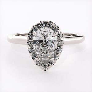 3222 - Pear Shape Halo Engagement Ring