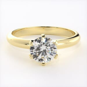 5072 - 2.5mm solitaire engagement ring