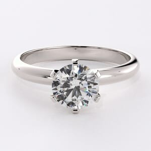 5071 - 2.5mm solitaire engagement ring