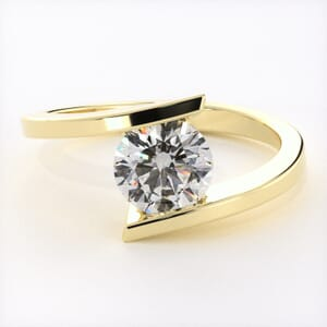5082 - half bezel solitaire ring