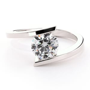 5081 - half bezel solitaire ring
