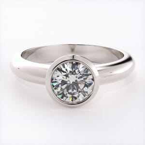 5178 - Bezel Setting Solitaire Engagement Ring