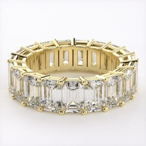5281 - Emerald Cut Diamond Eternity Ring (9.50ct tw)