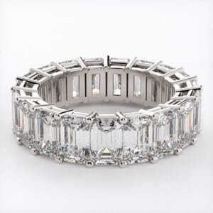 5282 - Emerald Cut Diamond Eternity Ring (9.50ct tw)