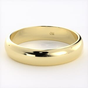 5210 - Classic Half-Round Wedding Ring in  (4mm)