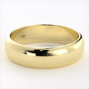 7318 - Classic Half-Round Wedding Ring in  (5mm)