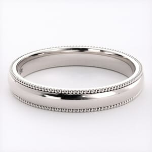 5234 - Comfort Fit Wedding Ring With Milgrain in  (3mm)