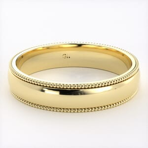 5240 - Comfort Fit Wedding Ring With Milgrain in  (4mm)
