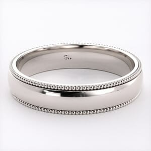 5239 - Comfort Fit Wedding Ring With Milgrain in  (4mm)