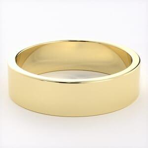 5255 - Light Flat Mens Wedding Ring in  (5mm)