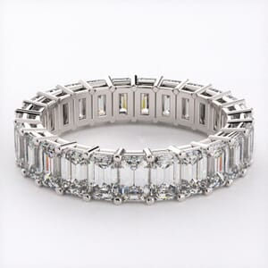 5279 - Emerald Cut Diamond Eternity Ring (5.50ct tw)