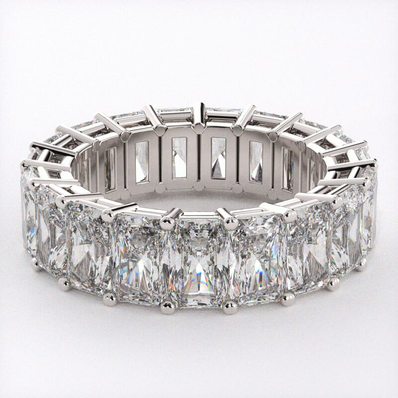 radiant diamond eternity ring