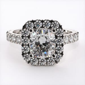 5314 - Cushion halo engagement ring