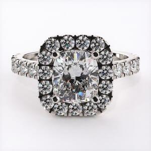 5314 - Cushion halo engagement ring