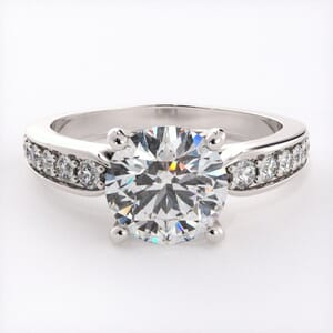 5631 - Diamond Ring With Channel Set Band