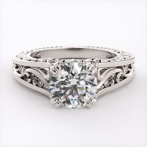 5703 - Diamond Ring With Milgrain Detail