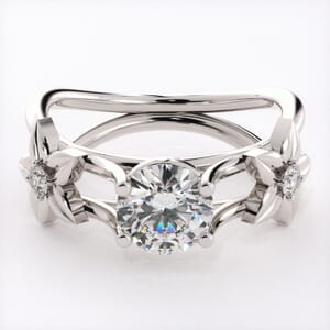 5775 - Diamond Ring With Floral Detail
