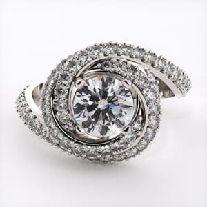 6456 - Halo Engagement Ring with 1.20ct round diamonds