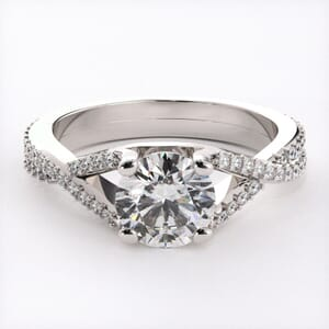 6461 - Pave Engagement Ring with 0.40ct round diamonds