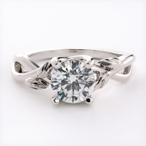 6501 - Feathered Solitaire Engagement Ring