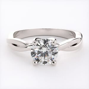 6526 - Solitaire Engagement Ring with Delicate Infinity Band