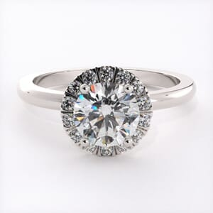 6531 - Delicate Halo Engagement Ring Setting with 0.25ct Round Brilliant Diamonds