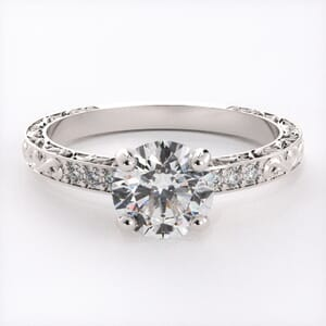 6546 - Regal Pave Diamond Engagement Ring with Brilliant Diamonds