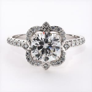 6566 - Regal Halo Engagement Ring 44 Diamonds