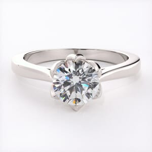 6581 - Flower Nest Solitaire Engagement Ring