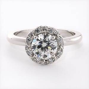 6591 - Wreathed Halo Engagement Ring 0.25 Carat