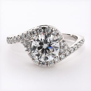 6676 - Entwined Halo Diamond Engagement Ring with 0.35ct Diamonds
