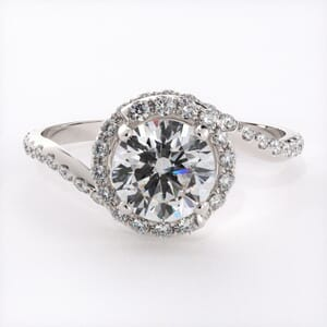 6686 - Spiral Halo Engagement Ring