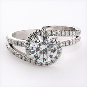 6706 - Stylised Split Halo Engagement Ring