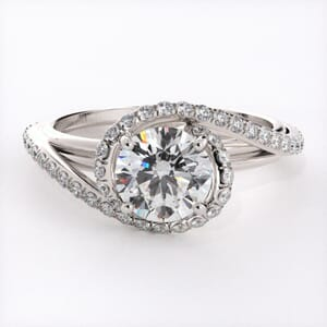 6716 - 0.45 Carat Ornate Halo Engagement Ring Setting