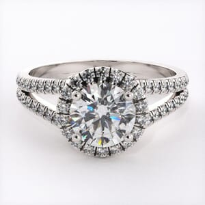 6721 - Lustrous Diamonds Halo Engagement Ring Setting