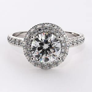6736 - 0.55 Carat Regal Diamonds Halo Engagement Ring