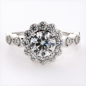 6746 - Dazzling Flower Halo Engagement Ring